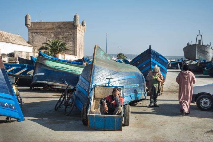 Reisefotografie Hafenarbeiter Marokko