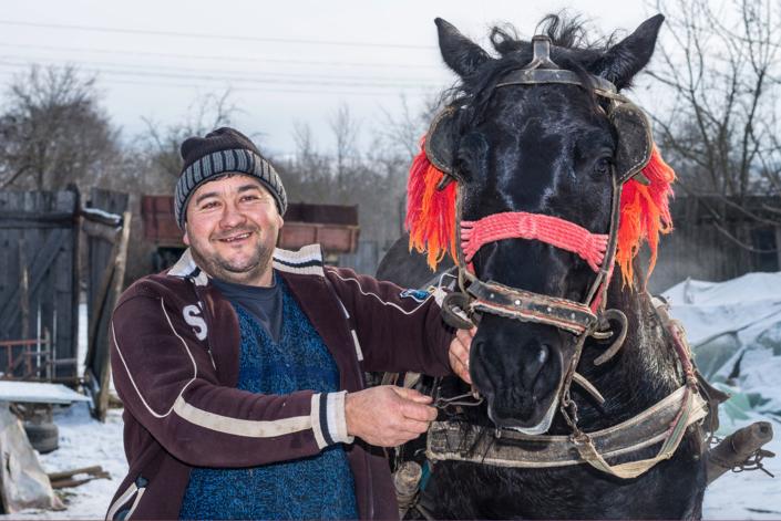 Fotos Bauer und Pferd in Rumänien