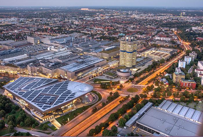 BMW Businessgebäude München Fotos