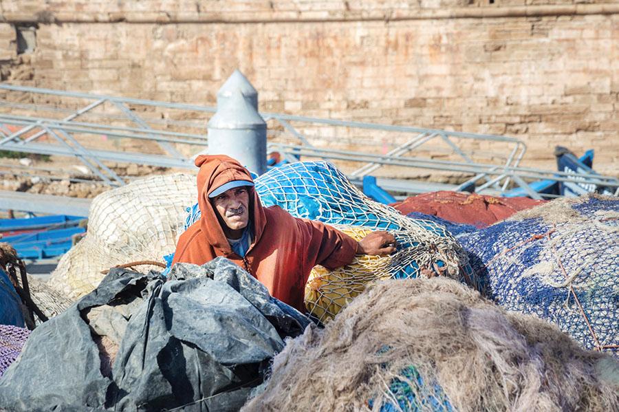 Portraitfotos Arbeiter Marokko