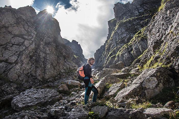 Reisefotografie Alpen Wanderer