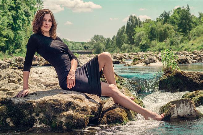 Outdoor Fotoshooting Frau München