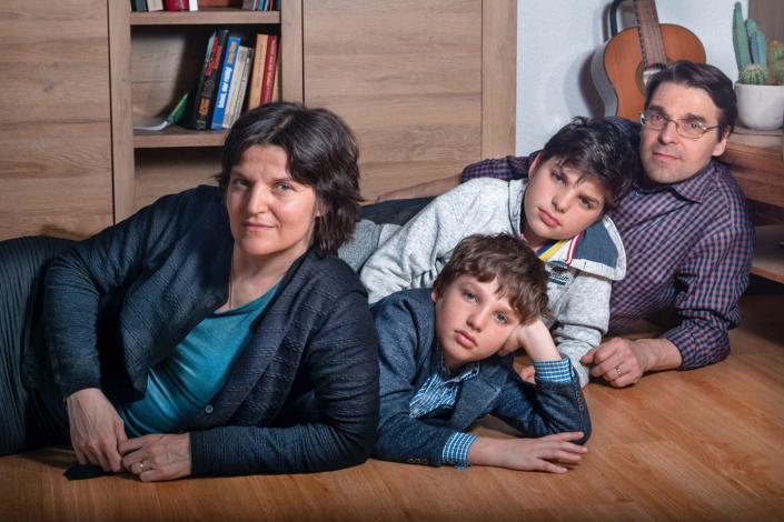 Familienfoto-Mann-Frau-Junge