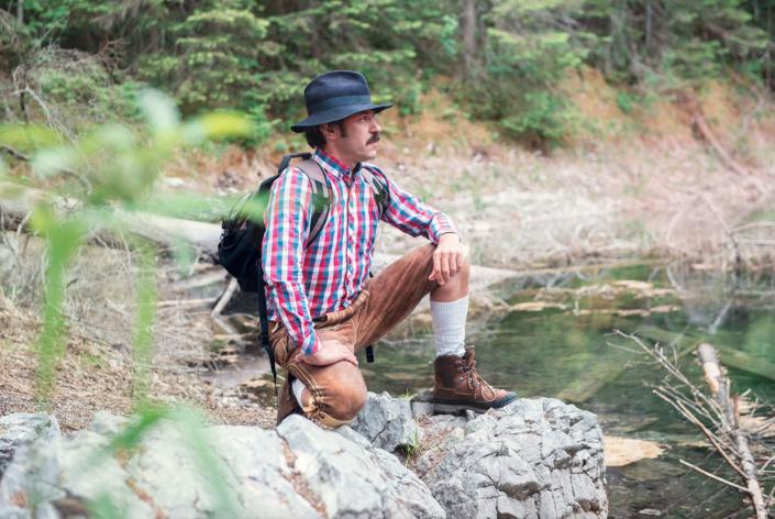 Portraitfotos junger Wanderer
