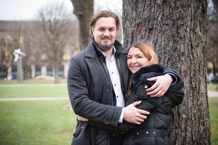 Pärchen in München Verliebt